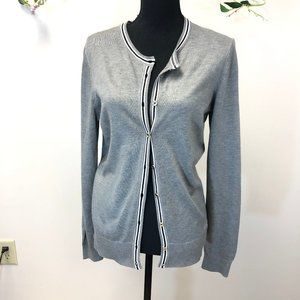 Tommy Hilfiger Gray Cardigan Sweater